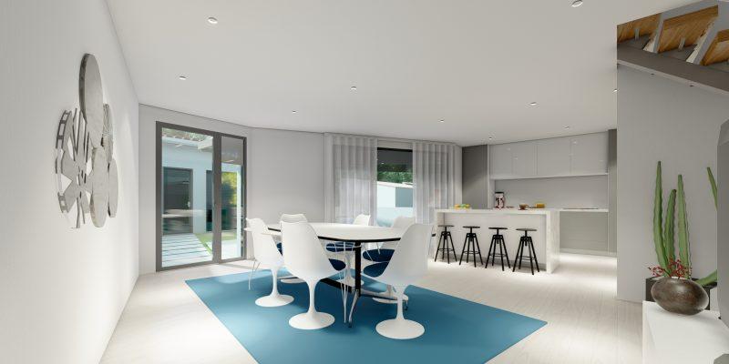 Imagem interior - sala/cozinha