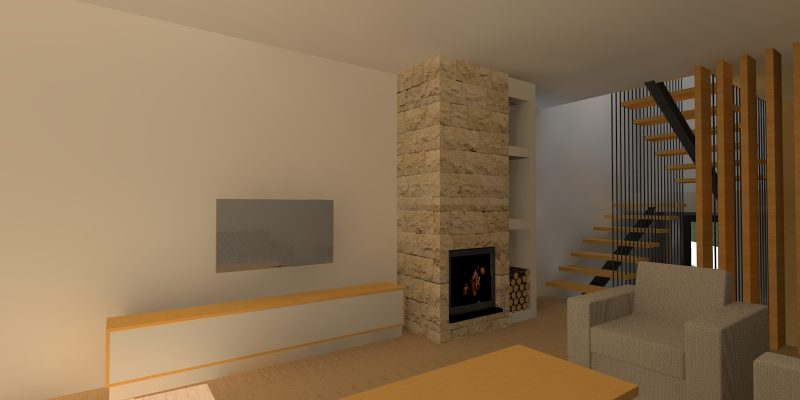 Perspetiva interior - sala de estar
